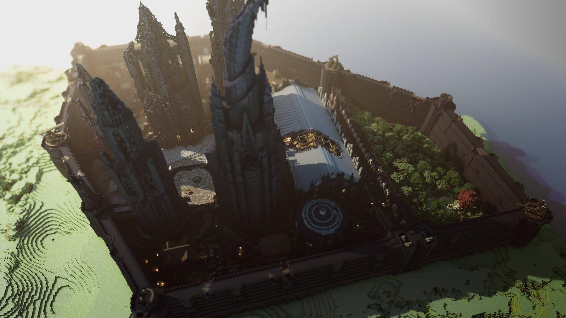 Hình nền công trình Minecraft