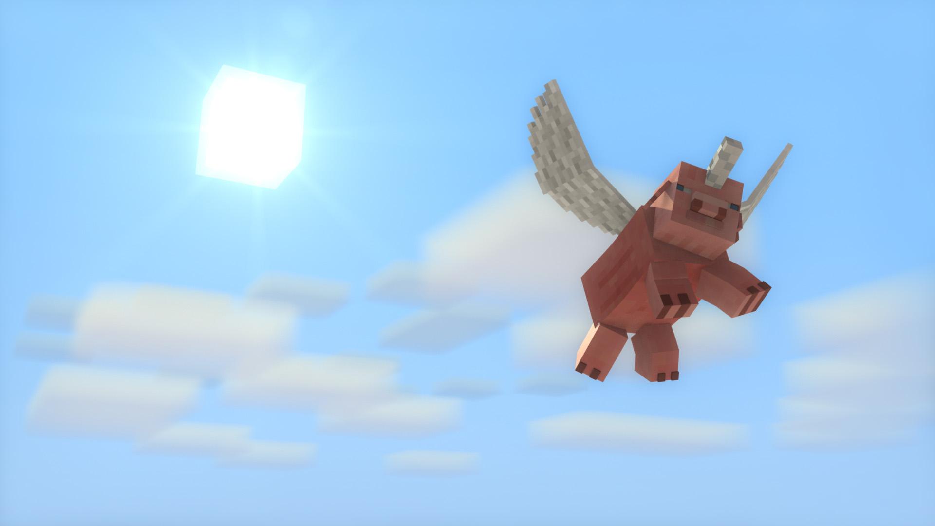 Hình nền lợn Minecraft