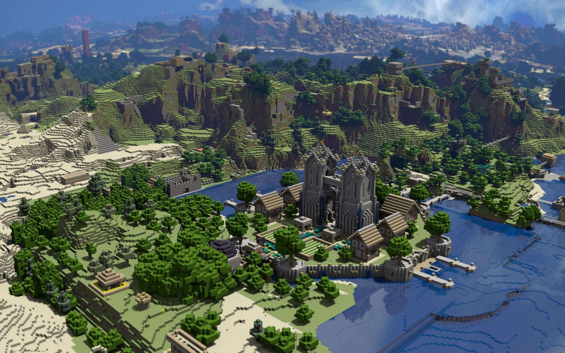 Hình nền Minecraft hùng vĩ
