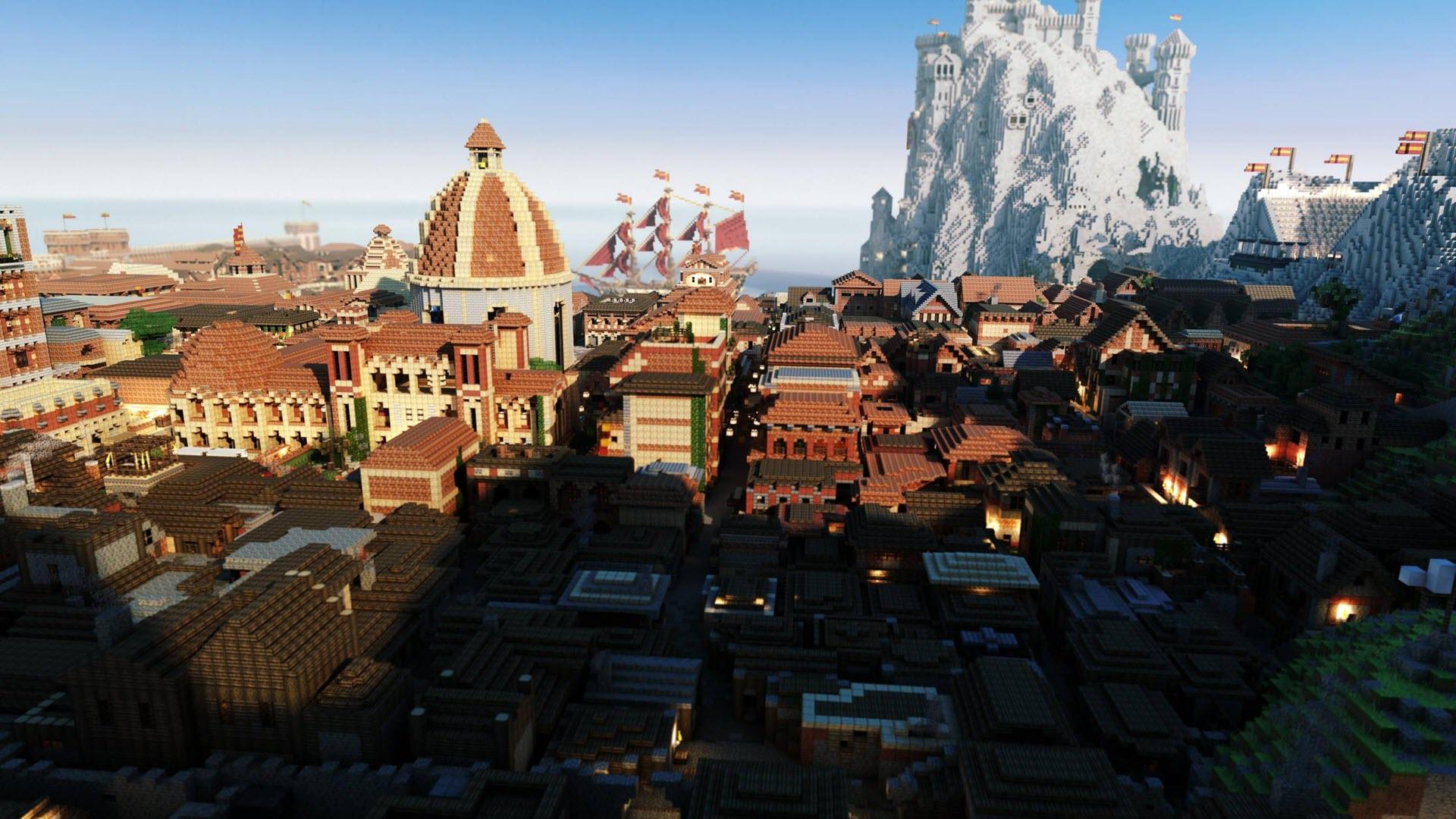 Hình nền Minecraft thành phố