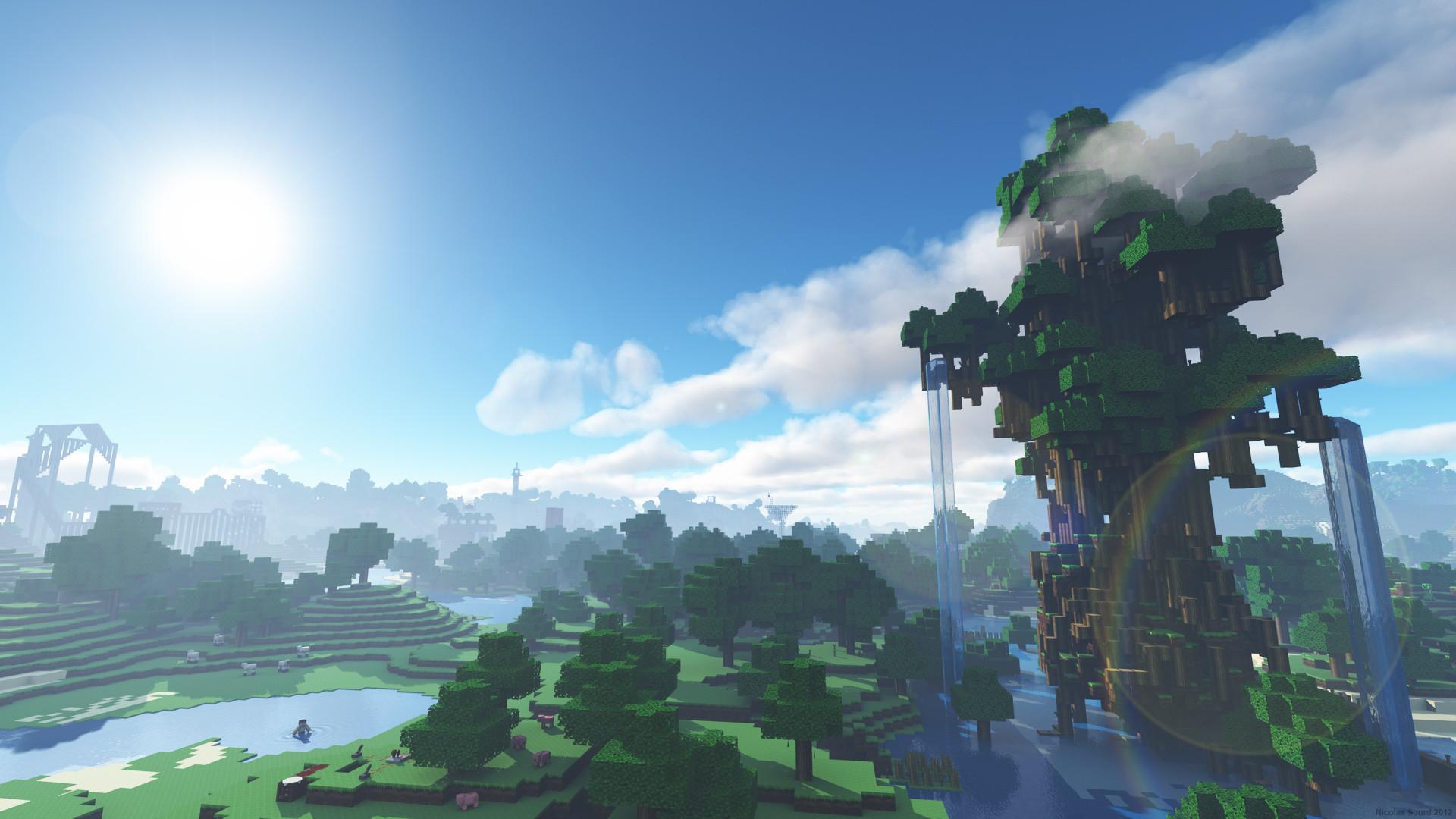Hình nền phong cảnh Minecraft tuyệt đẹp
