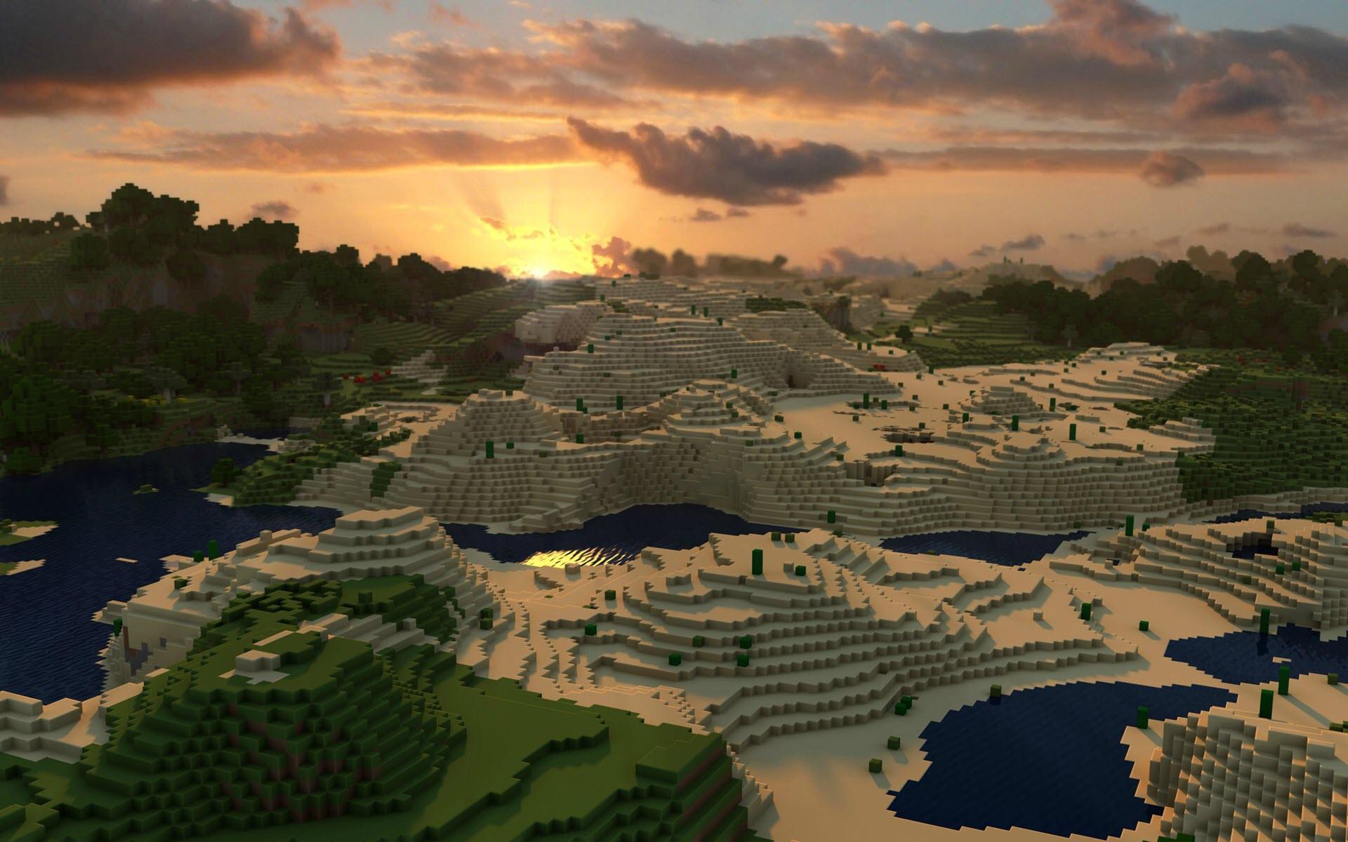 Hình nền phong cảnh Minecraft