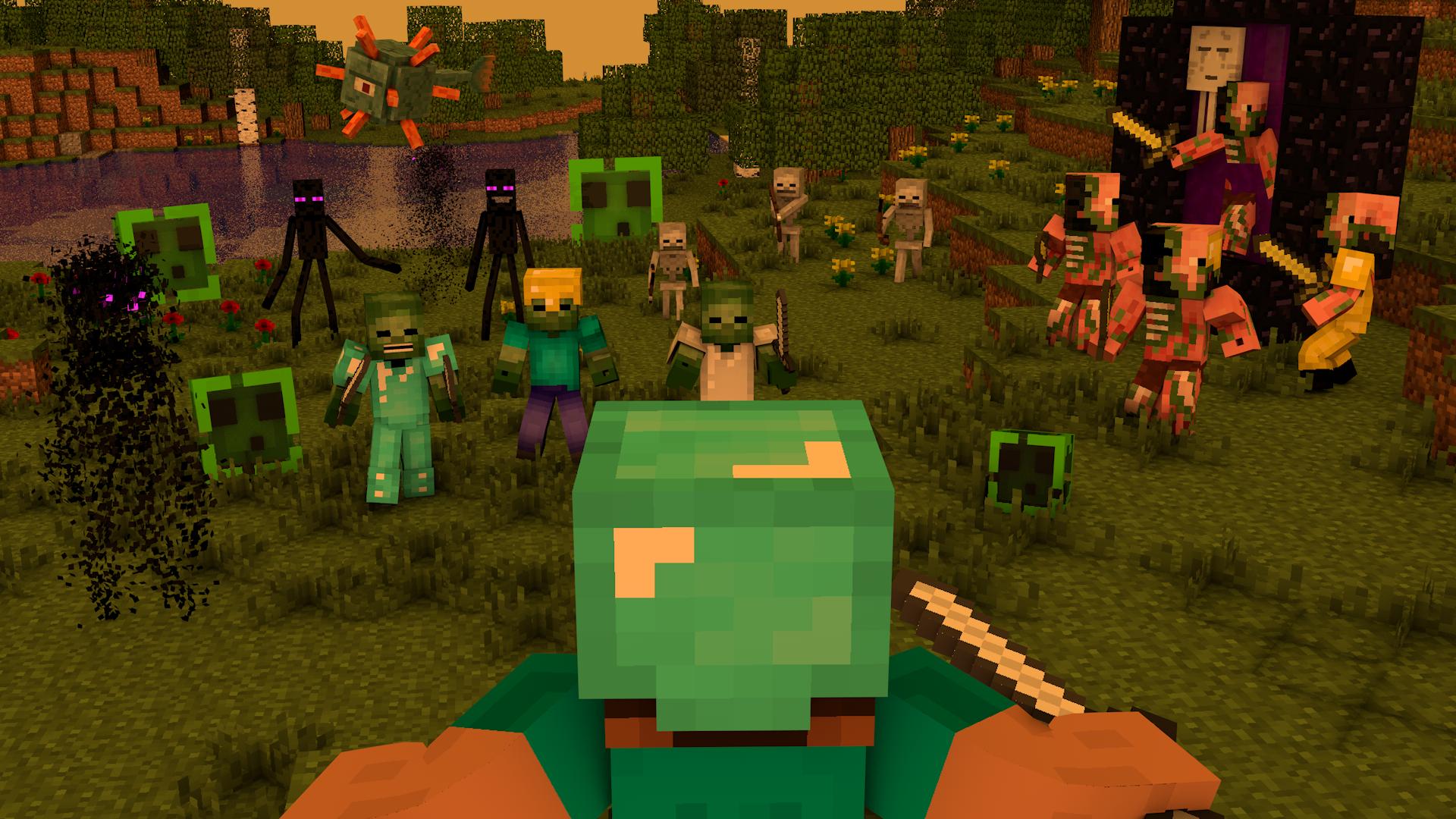 Hình nền quái vật Minecraft