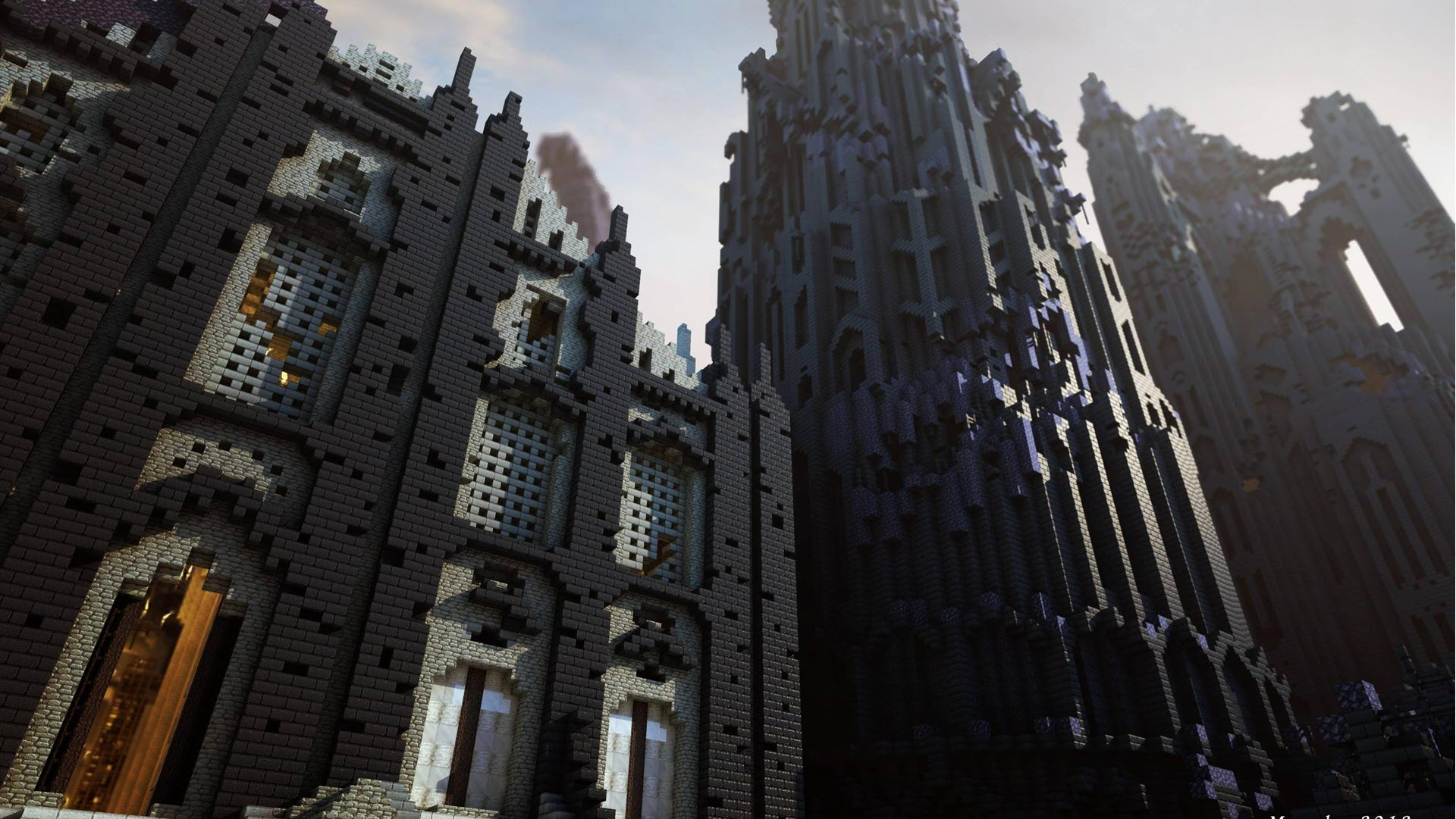 Minecraft Wallpaper castle