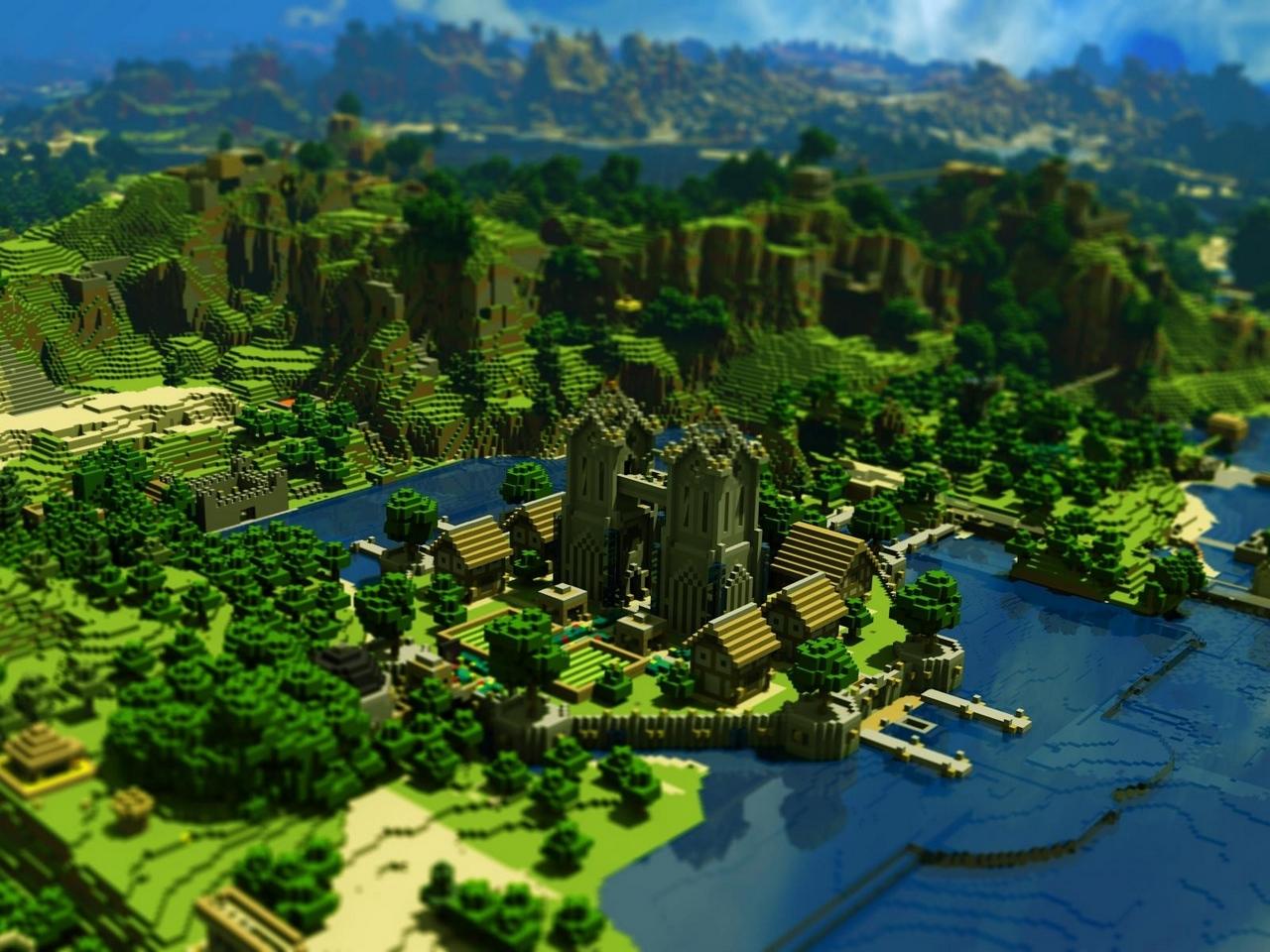 Ảnh đẹp làng Minecraft