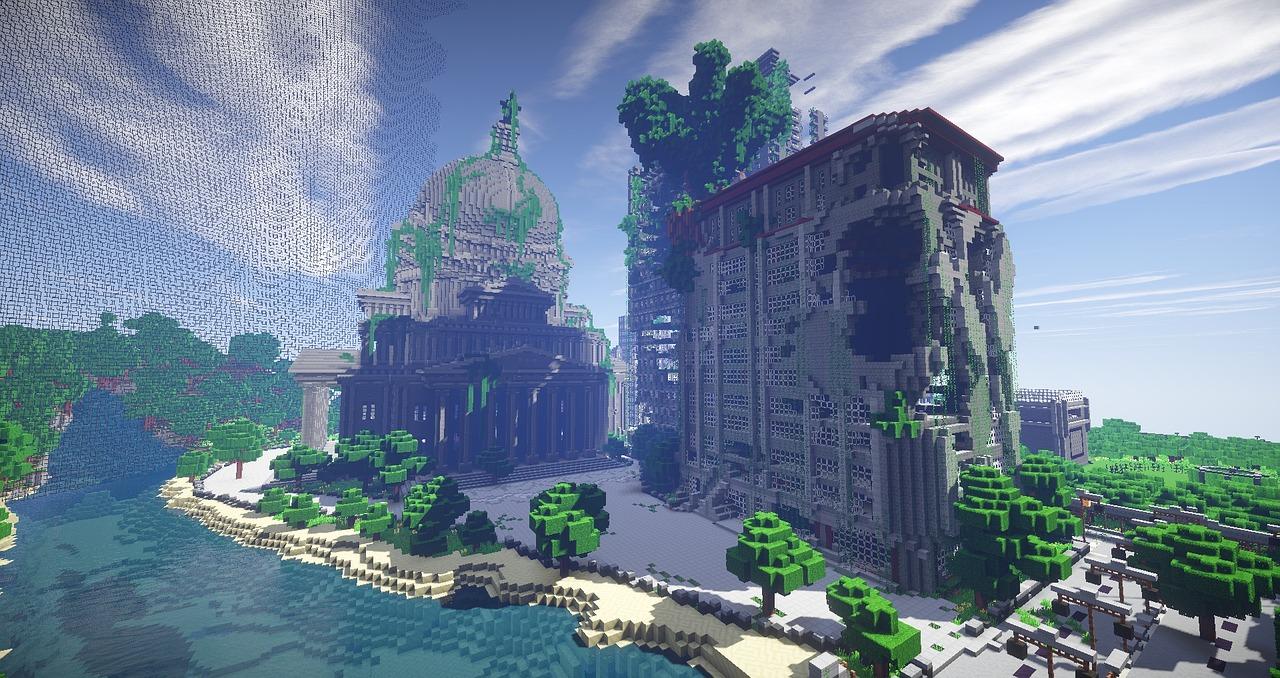Hình ảnh công trình cổ Minecraft
