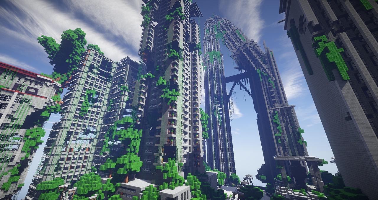 Hình ảnh thành phố trong Minecraft