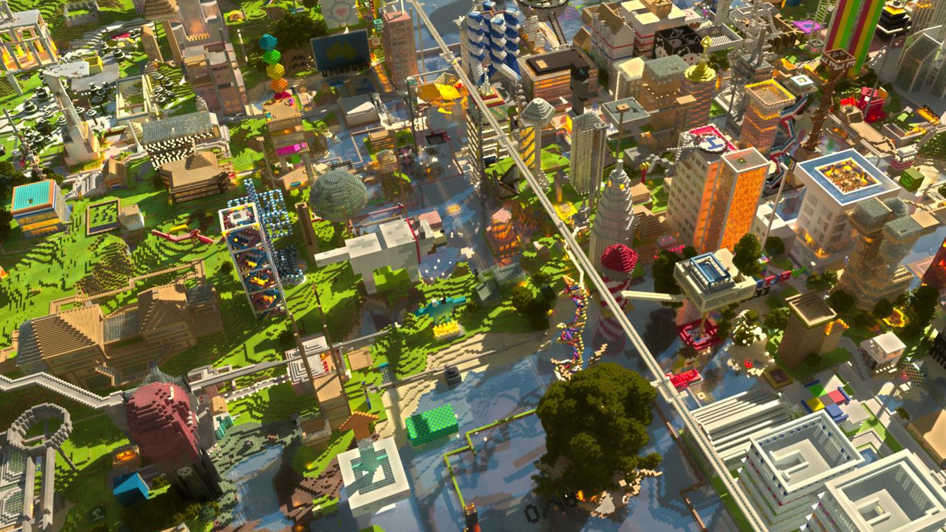 Hình đẹp thành phố trong Minecraft