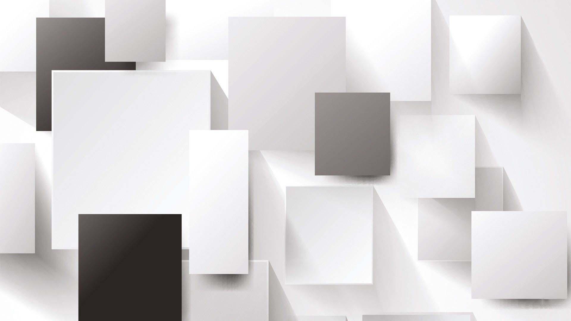 Hình nền trắng đen 3D cho máy tính