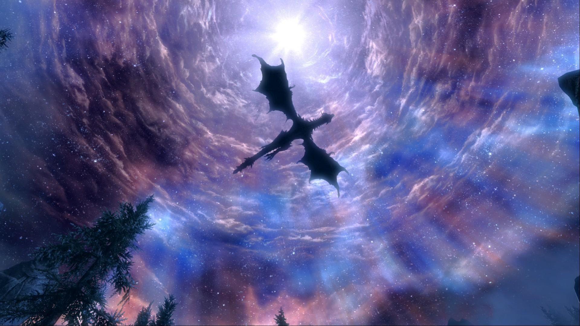 Hình nền rồng dang cánh bay