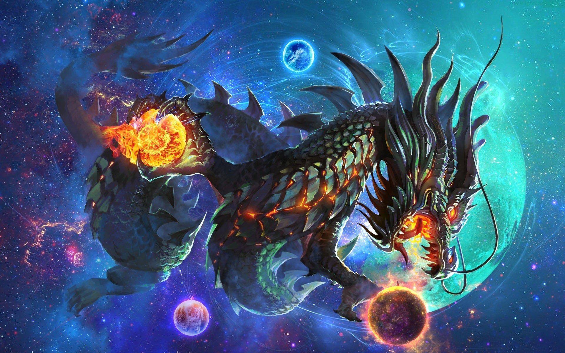 Hình nền rồng ngân hà
