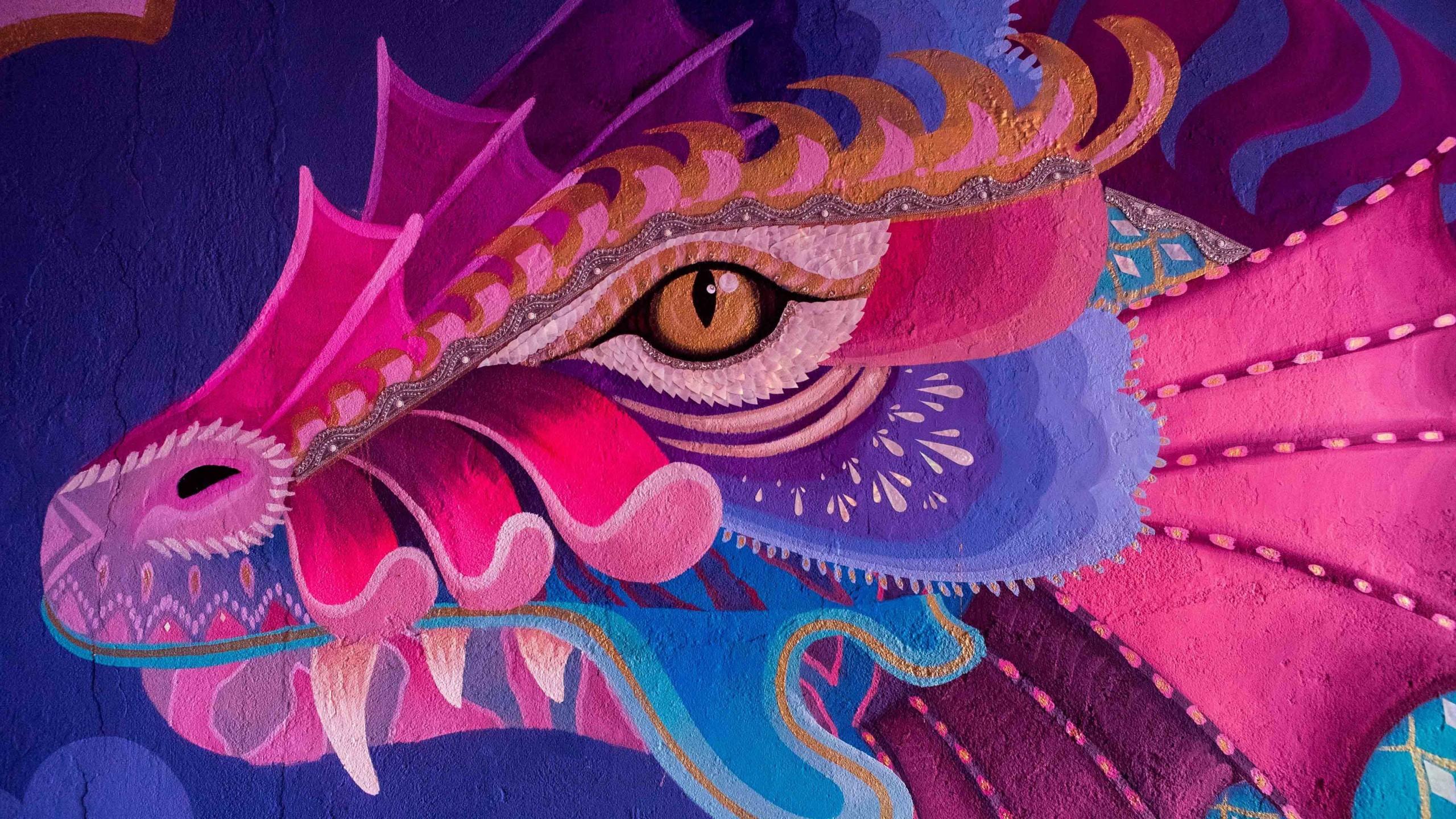 Hình nền rồng vẽ tay