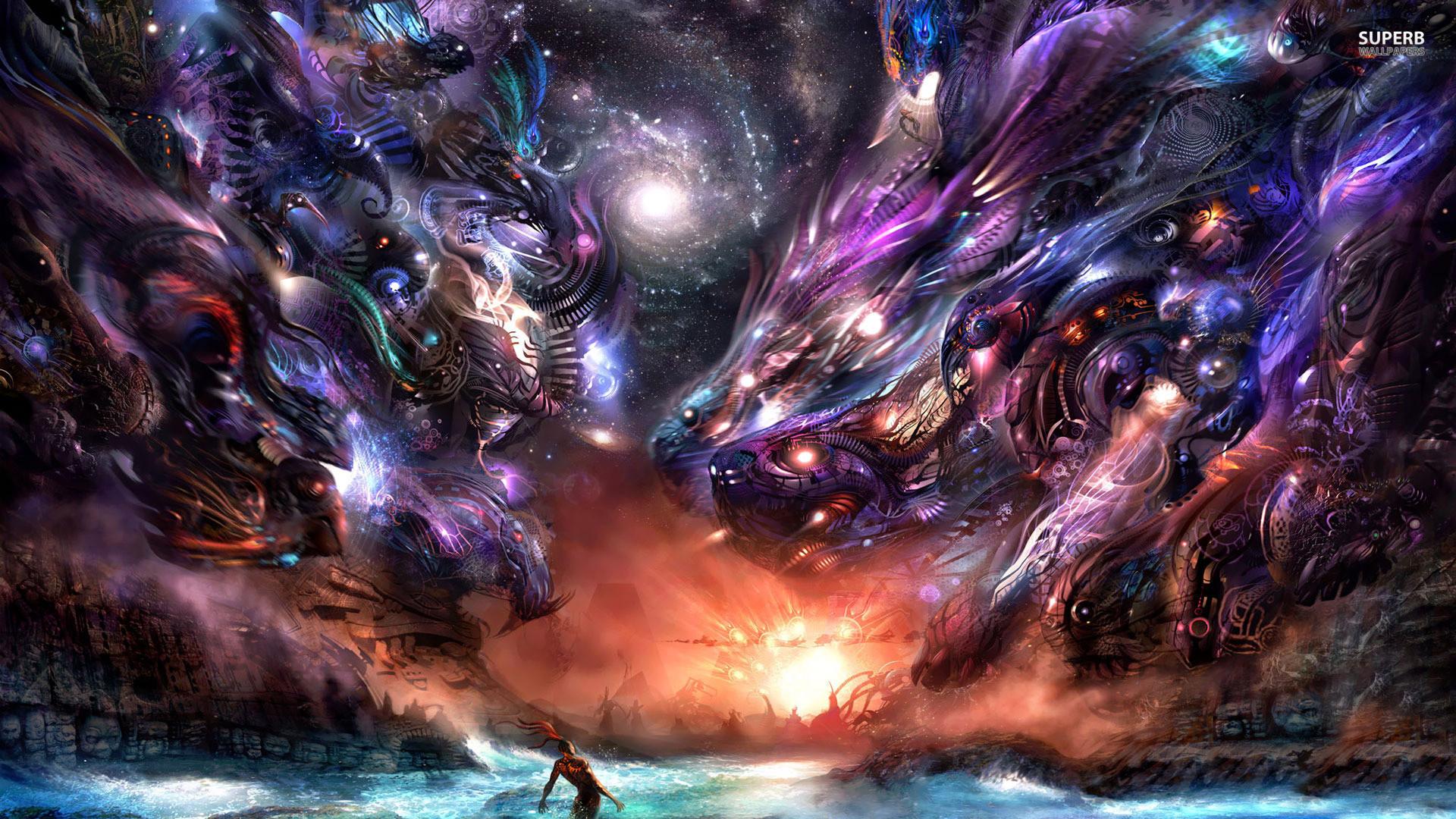 Hình nền rồng vũ trụ