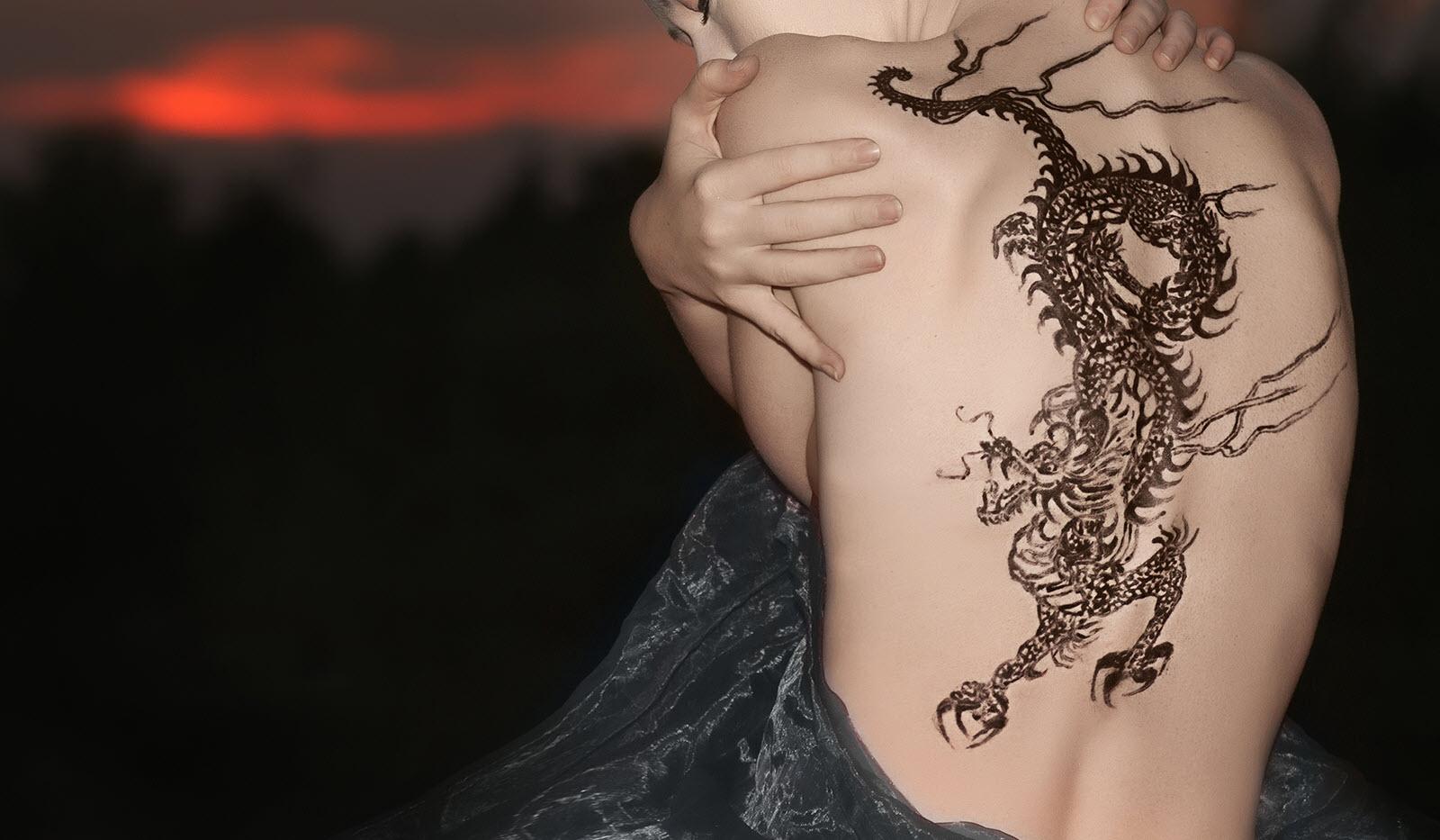 Hình xăm rồng cho con gái