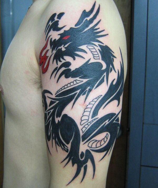 Hình xăm rồng ở bắp tay