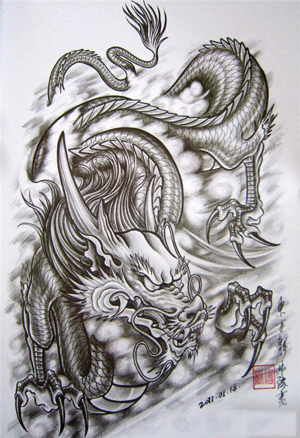 Mẫu hình xăm rồng đẹp nhất