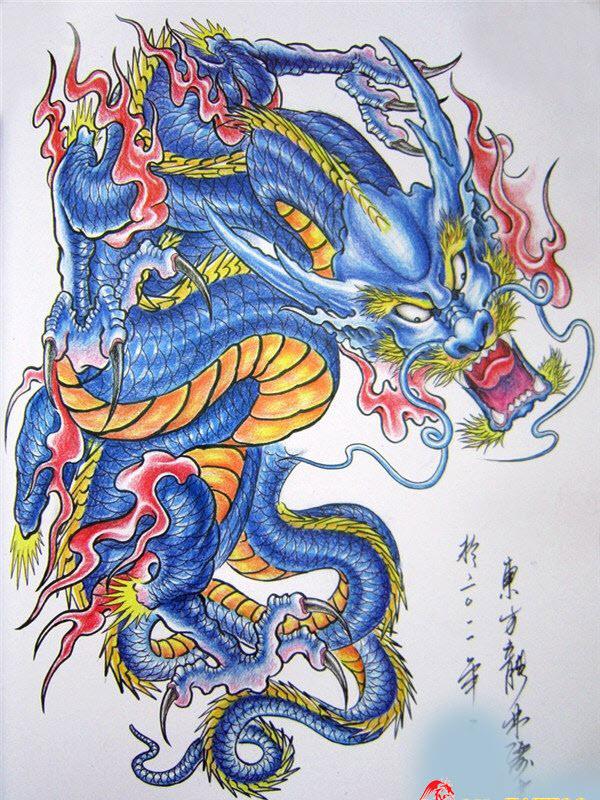 Mẫu hình xăm rồng đẹp