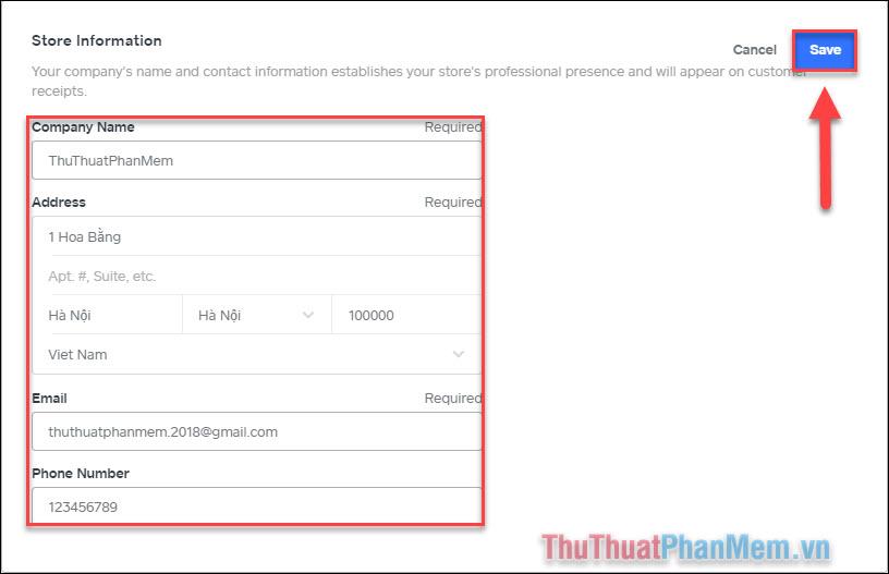 Quản lý thông tin cửa hàng của bạn (3)