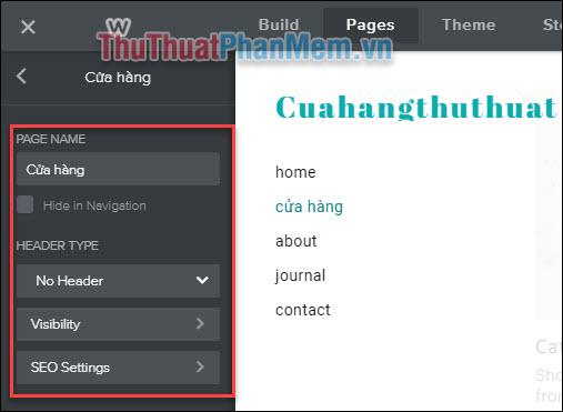 Thiết lập các trang trên website của bạn (2)