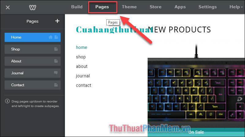 Thiết lập các trang trên website của bạn (3)