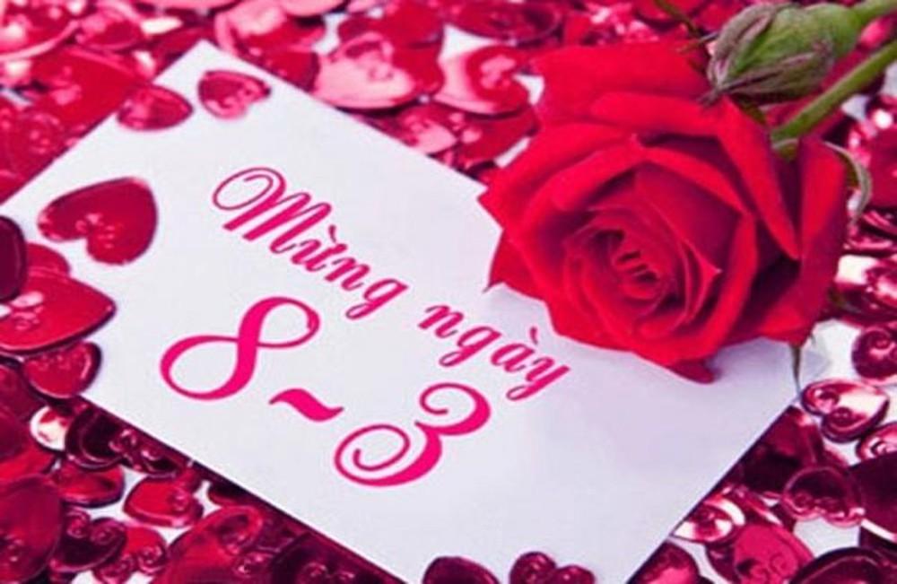 Ngày mùng tám tháng ba cùng tấm thiệp đẹp tặng người yêu