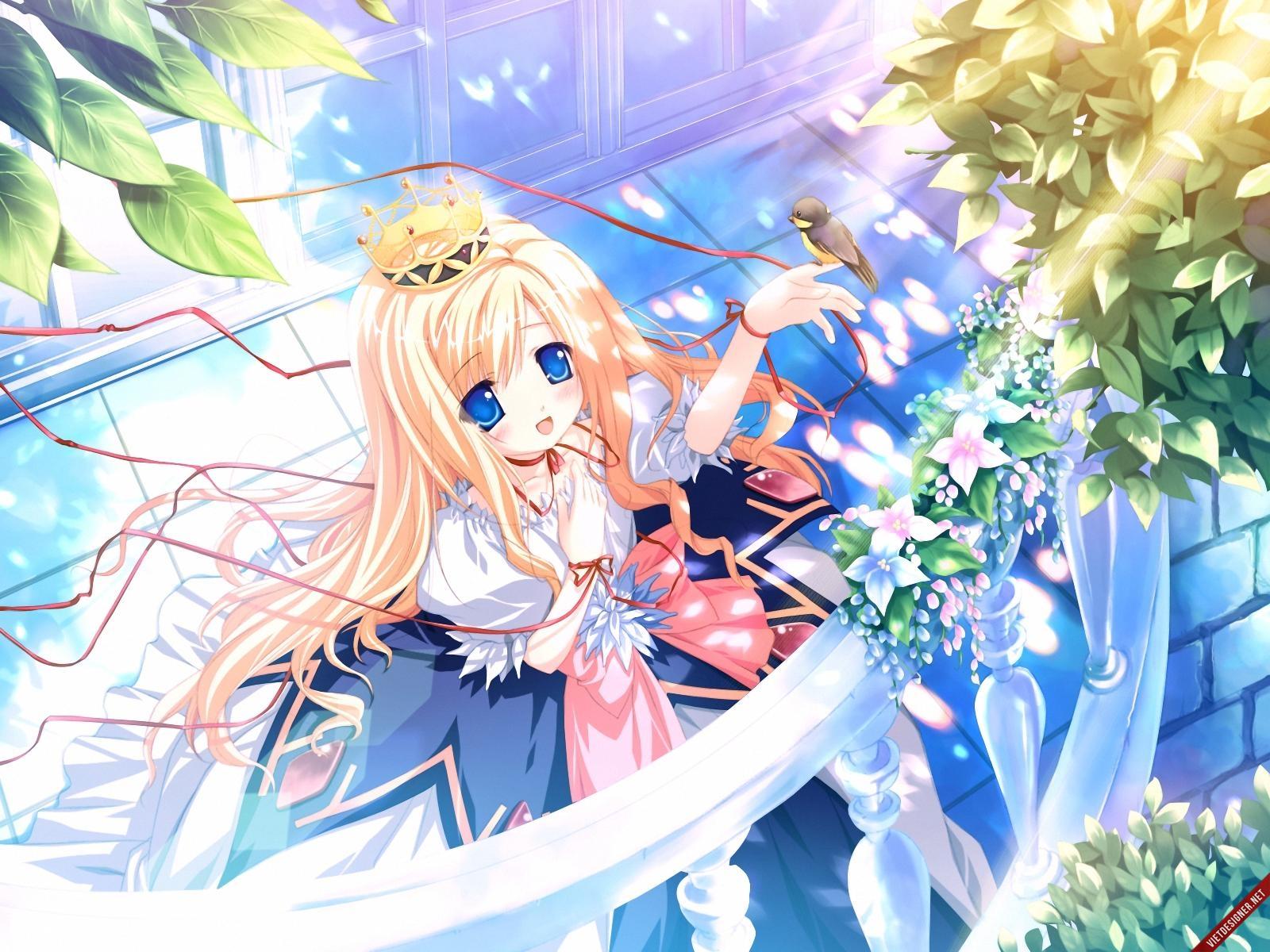 Ảnh anime cô công chúa tóc vàng dễ thương