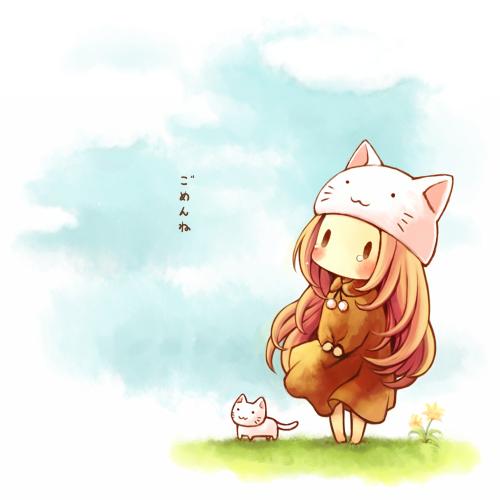Ảnh anime cô gái đội mũ tai mè