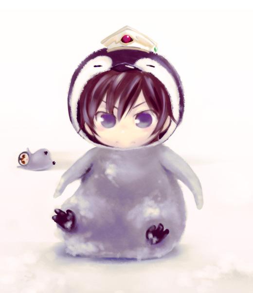 Ảnh anime cosplay cánh cụt siêu dễ thương