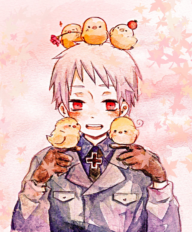 Ảnh anime Đức và những chú gà con (Hetalia)