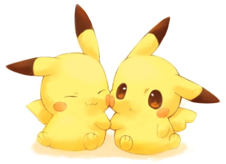 Ảnh anime gấp đôi Pikachu gấp đôi sự đáng yêu