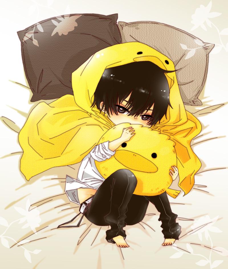 Ảnh anime Hibari Kyoya và gối ôm Hibird
