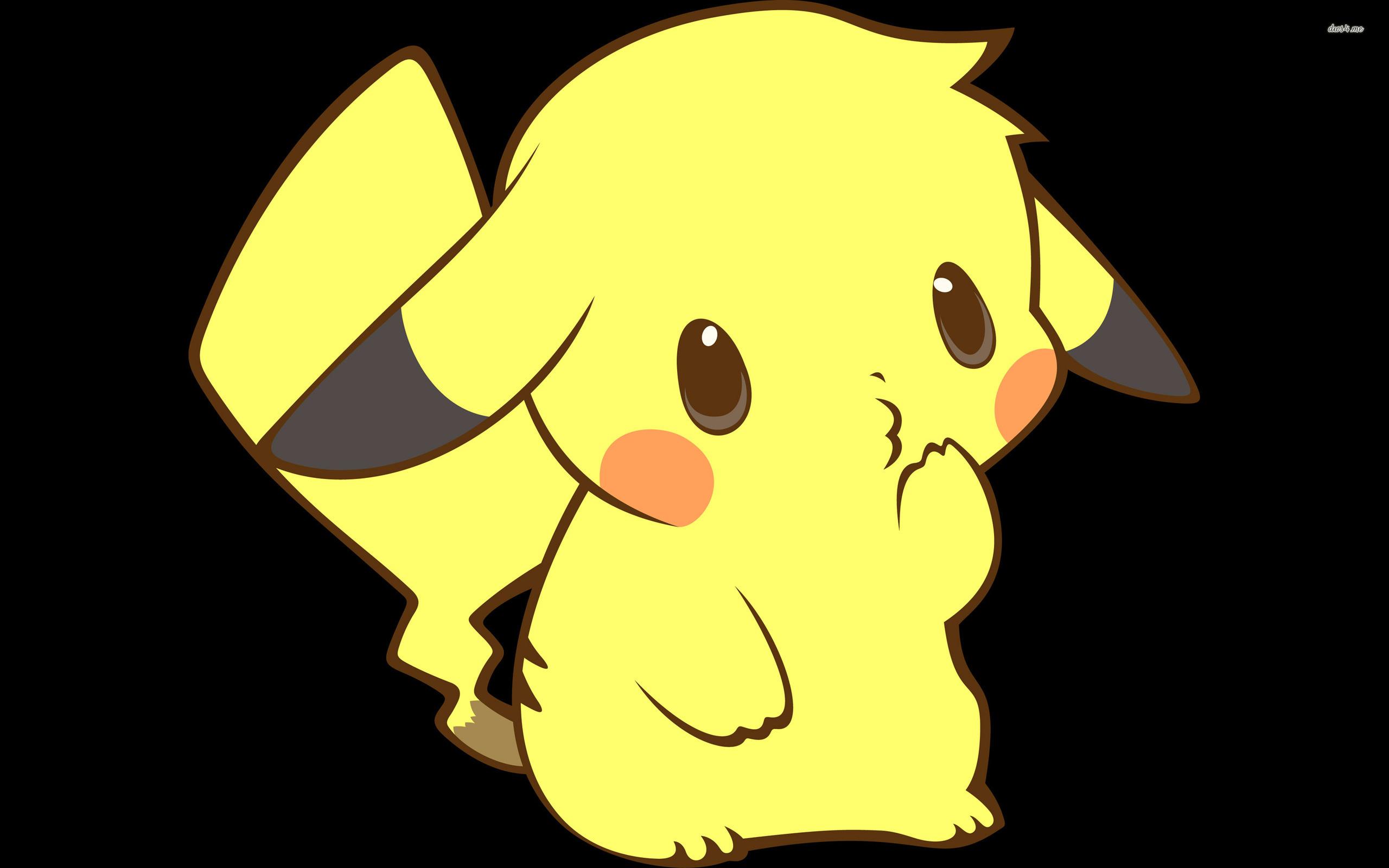 Ảnh anime Pikachu cute cute đang chu mỏ