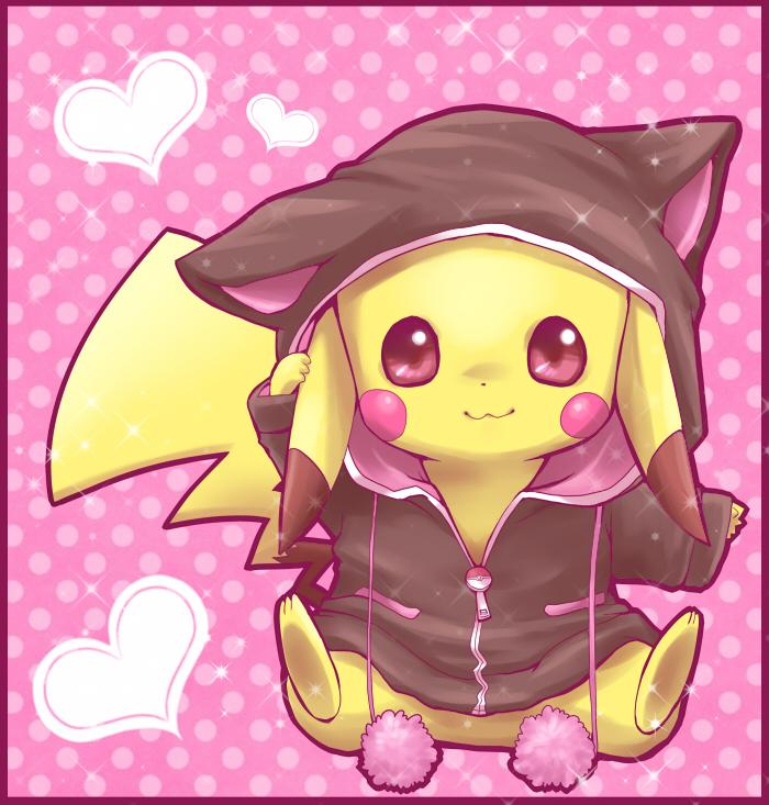 Ảnh anime Pikachu mặc cái gì cũng đáng yêu