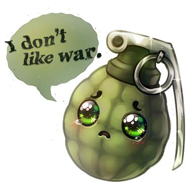 Ảnh anime quả lựu đạn không thích chiến tranh
