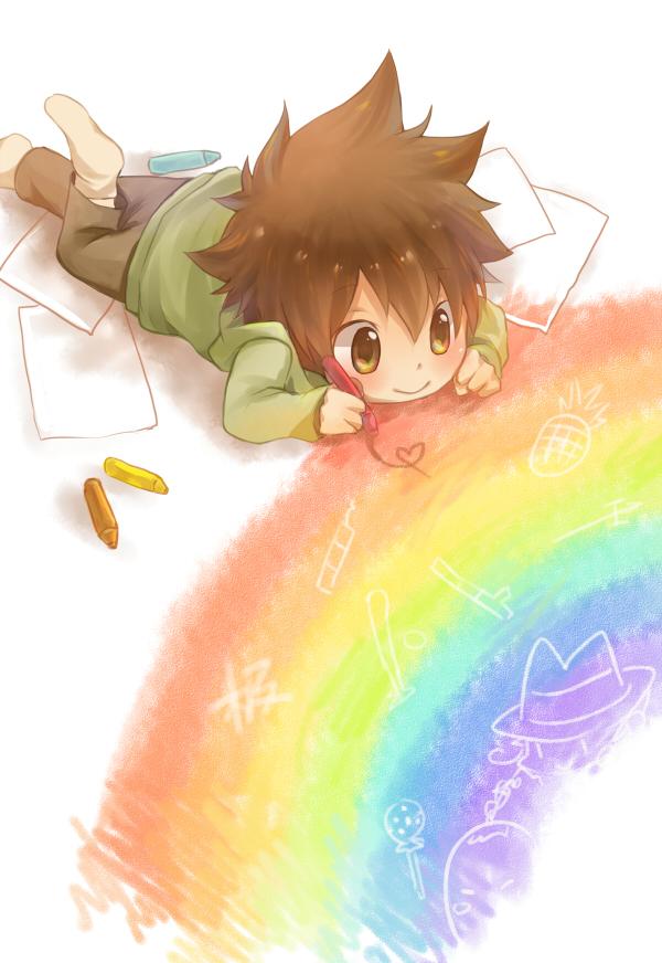 Ảnh anime Tsunayoshi khi còn bé đáng yêu thế nào