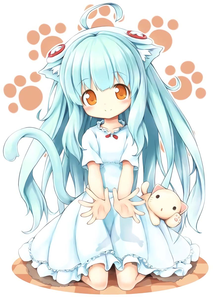 Hình anime dễ thương cô mèo đáng yêu