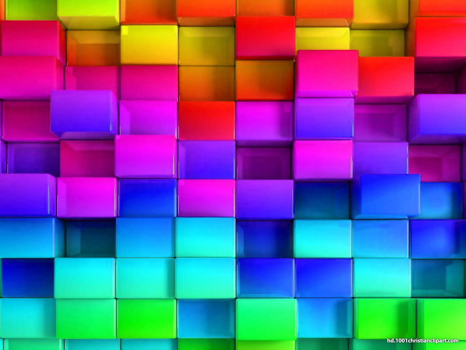 Hình nền Powerpoint 3D đa sắc màu