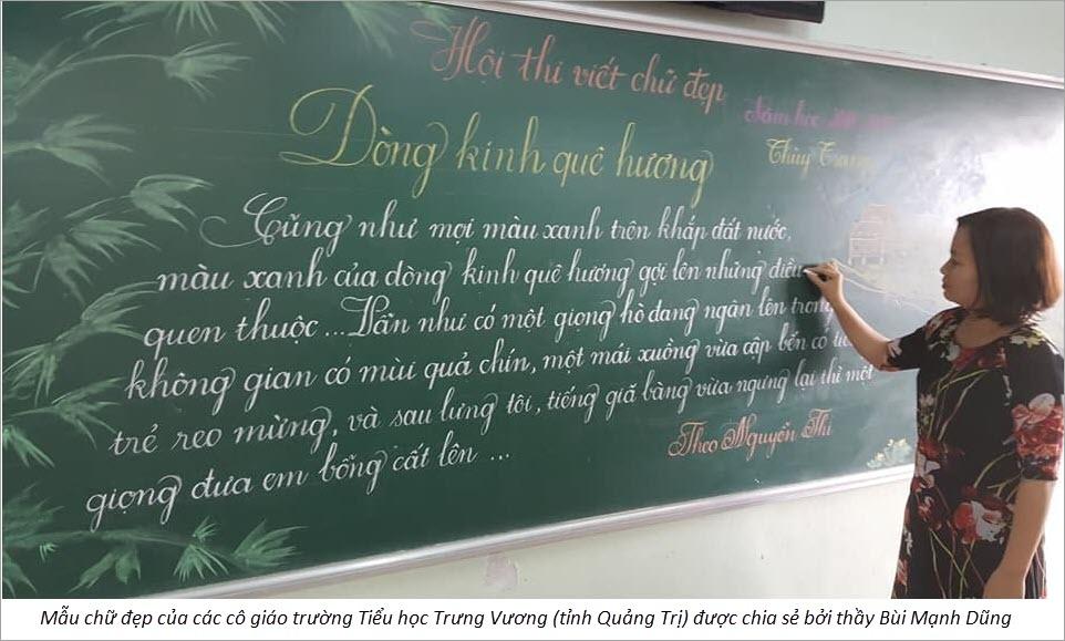 Ảnh mẫu chữ đẹp của cô giáo