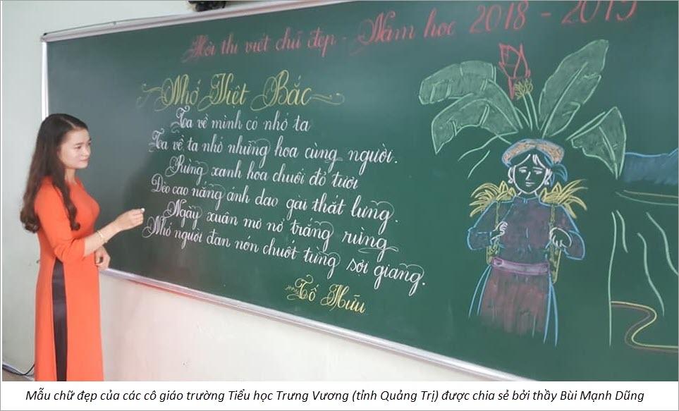 Các mẫu chữ đẹp của các cô giáo
