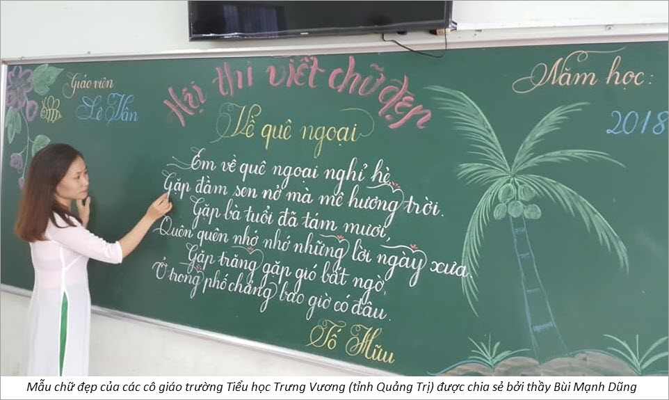 Hình mẫu chữ đẹp của cô giáo