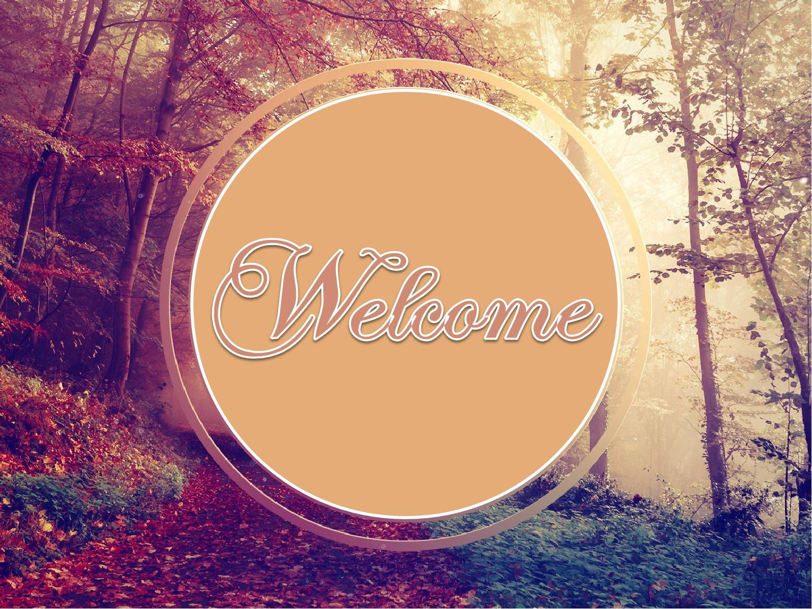 Hình nền mở đầu Slide welcome đẹp
