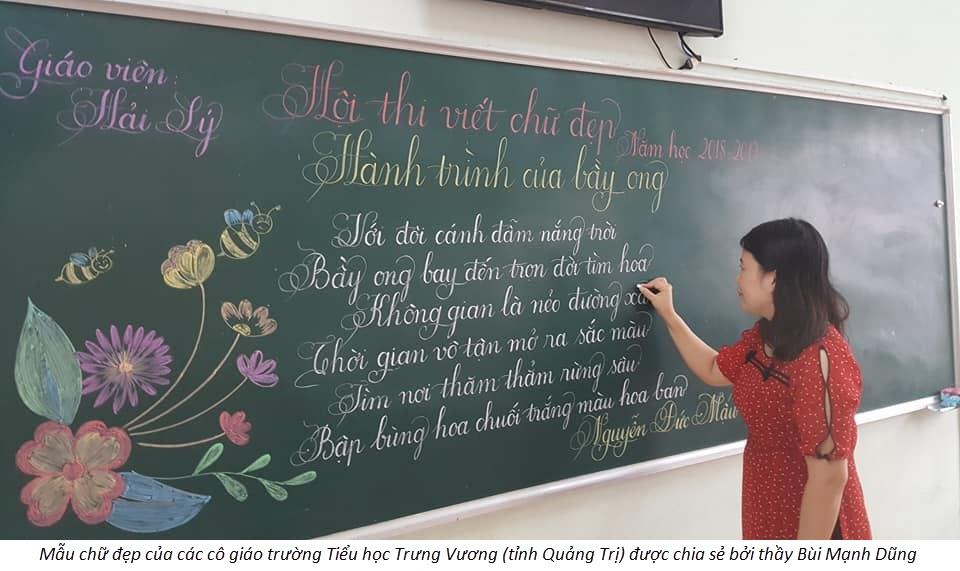 Mẫu chữ cực đẹp của cô giáo