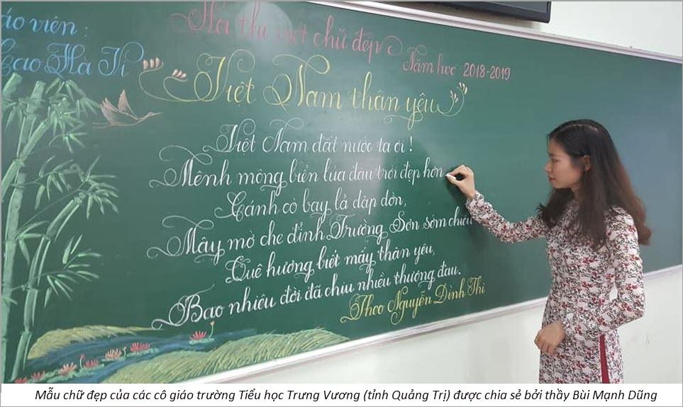 Mẫu chữ đẹp của các thầy cô giáo
