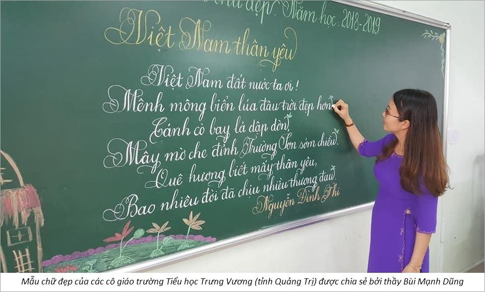 Mẫu chữ đẹp nhất của các thầy cô giáo