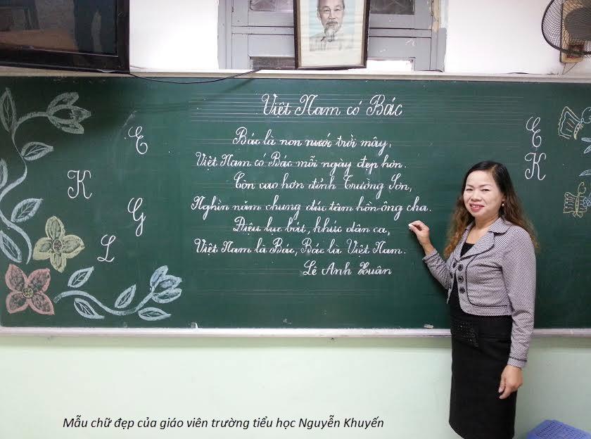 Mẫu chữ đẹp sáng tạo của cô giáo