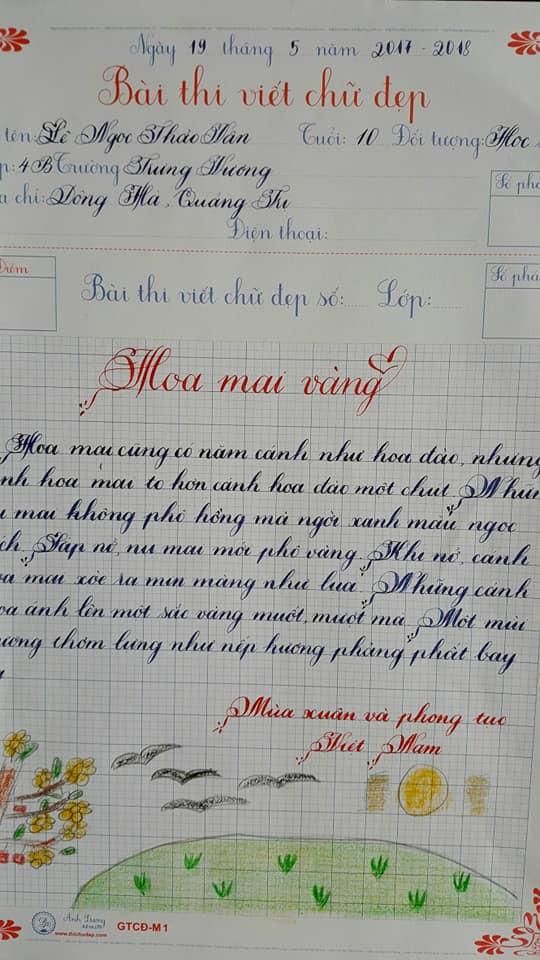 Mẫu chữ viết đẹp