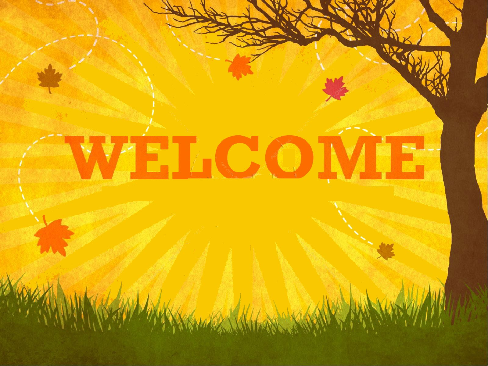 Powerpoint welcome slide