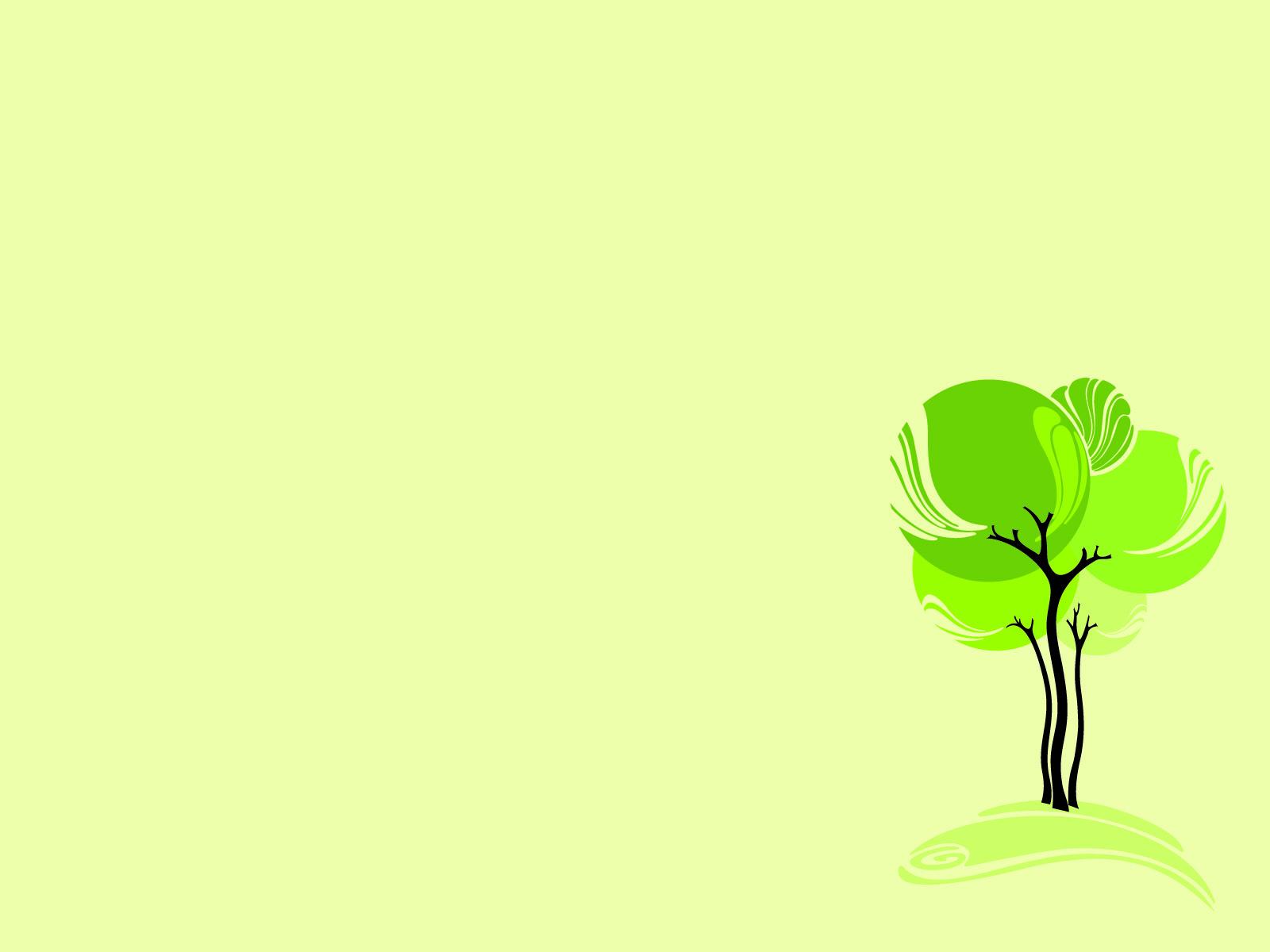 Ảnh nền power point cây xanh lá