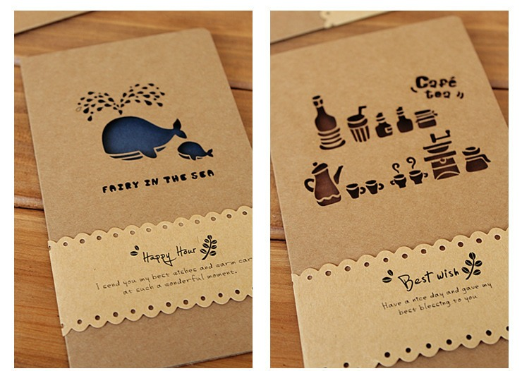 Thiệp handmade đẹp với hình chú cá voi