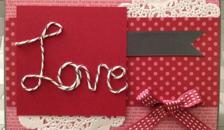 Thiệp handmade tặng cho người yêu vào ngày mùng 8 tháng 3 đơn giản không cầu kỳ